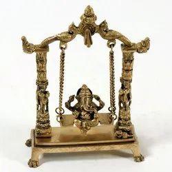 Capstona Brass Jhula Ganesh Idols
