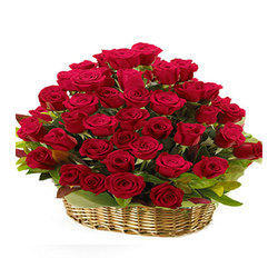 Basket Rose Bouquet