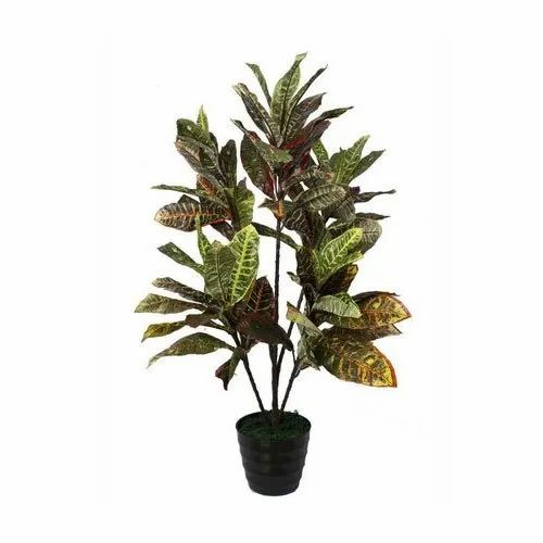 Red Artificial Croton Plant For Home Rs 2065 Piece Pollination World Decorative Pvt Ltd Id 20568606688
