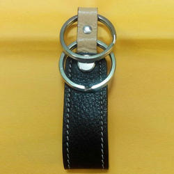 Dual Leather Key Ring