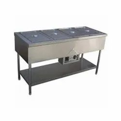 Bain Marie with 4 Counter with Under Shelf