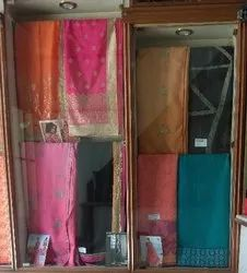 Synthetic A the above categories Fancy Sarees, Machine Made, With blouse piece