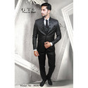 Party Terry Rayon Black Full Sleeve Men