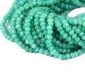 Aqua Chalcedony Gemstone Rondelle Beads