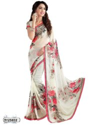 Beautiful Chiffon Saree With Blouse for Woman