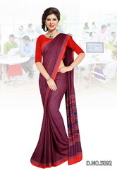 Purple Colored Uniform Saree