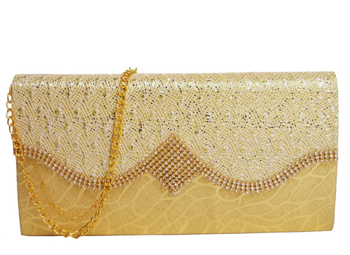 92f2572a23 Fashion Knockout Golden New Women Party Wear Clutch/sling Bag, Rs ...