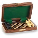 Wooden Travelers Mini Chessboard Wp045