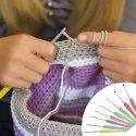 Multicolor Aluminium Crochet Knitting Needles