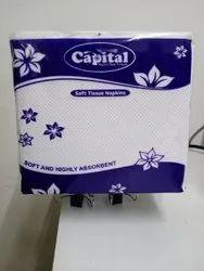 Soft White Plain Paper Napkin, 17, Size: 30 X 27 Cm