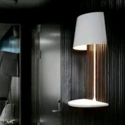 LED White Half Wall Table Lamp, 4000K