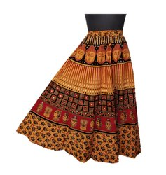 7dc094dc71 Printed Rajasthani Skirt, Size: Free Size upto XL