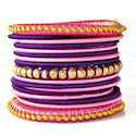 Indian Handcraft Very Beautiful Colours Silk Thread Bangles