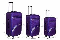 Rainbow Organizer Purple 4 Wheel Luggage Trolley Bag