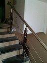 Modern Wooden Baluster Handrail