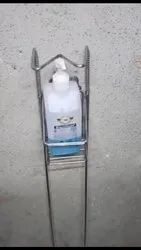 SS Pipe, Foot Operated Sanitizer Dispenser