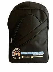 Travelistan Black Institute Bag Customise, For College, Size: Large