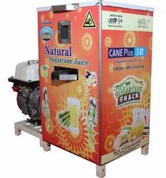 Sugar Plant SS 3 Roller Sugarcane Juice Machine With Engine