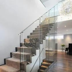 Silver,Golden Stainless Steel Glass Railing, Material Grade: Ss304 And Ss316