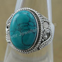 Turquoise Gemstone 925 Sterling Silver Jewelry Ring Stone