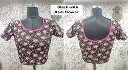 Women Cotton Jacquard Stretchable Readymade Blouse
