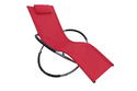 Folding Rocking Chair -Aluminum- Red