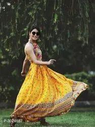 Ladies Yellow Designer Kurti