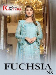 Khayyira Suits Fuchsia NX Series 1016 to 1019 Pakistani Suits