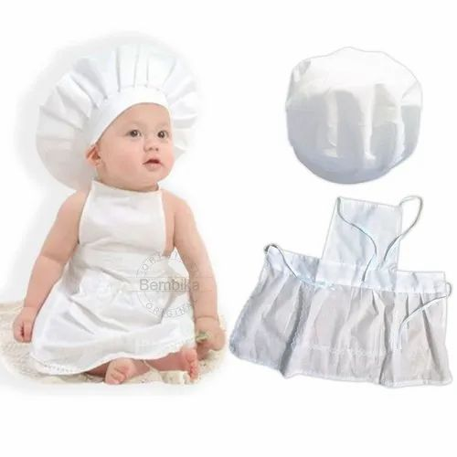 63dc94e93bb06 Bembika Cute Baby Cook/master Chef Costume Photography Prop Newborn Infant  Hat Apron Chef Clothes (s