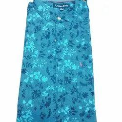 Allen Solly Men Printed Cotton Casual Designer Shirt, Size: M, L, XL