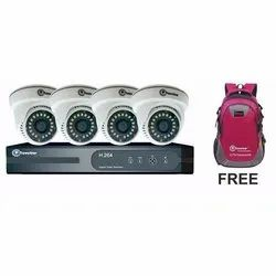 AHD 2.4MP HD Camera and 4ch AHD 5in1 DVR with 4 Audio Combo Kit
