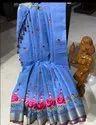 Embroidery Work Linen Saree