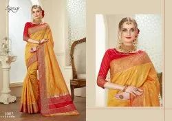 Stylish Banarasi Silk Cotton Saree