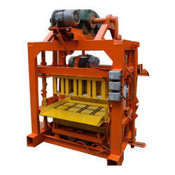 3 Phase Mild Steel Concrete Block Making Machine, Capacity: 200-300/h