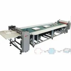 Top Gluing Machine with Conveyor