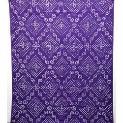 All Over Purple Color Cotton Bandhani Kurti