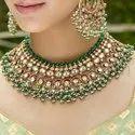Silver  Kundan Necklace Set