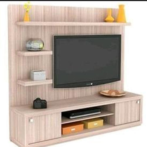 Brown Mdf Particle Board Tv Cabinet For Home
