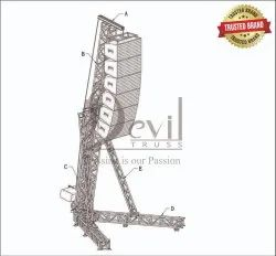 Silver 6082t6 Aluminium Line Array Truss Tower, For Hanging Lights And Sound, For Industrial