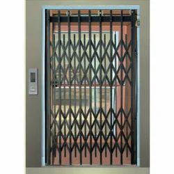 Mild Steel Elevator Collapsible Door