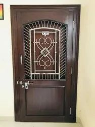 Hinged Wooden safety door, For Residential, Size: 7*3.5