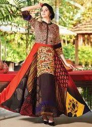 Stitched Ankle Length Printed Designer Regular Wear Kurti