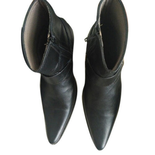 leather boots for men black