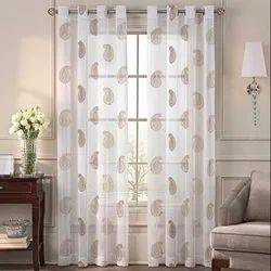 52 X 60 Inch Angela Gold Sheer Curtain