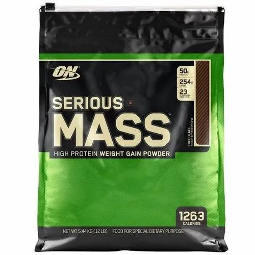 ON Optimum Nutrition 12 lb Serious Mass, Packaging Type: Pouch