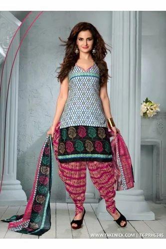 a3eb252aa Designer Patiyala Punjabi Dress Material, Women Suit Material ...
