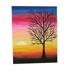 Acrylic Multicolor Sunset Article