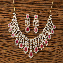 CZ Classic Necklace with gold plating 62770