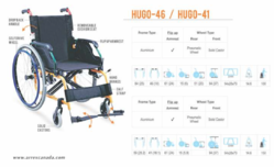 HUGO-46 & 41 Premium Aluminium Wheelchair