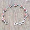 Female Golden Sun Sitara Gemstone 925 Sterling Silver Bracelet